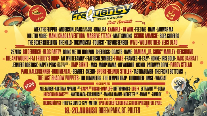 FM4 Frequency Festival 2016 Line up Phase 2 oeticket  : fq from service.oeticket.com size 720 x 405 jpeg 159kB