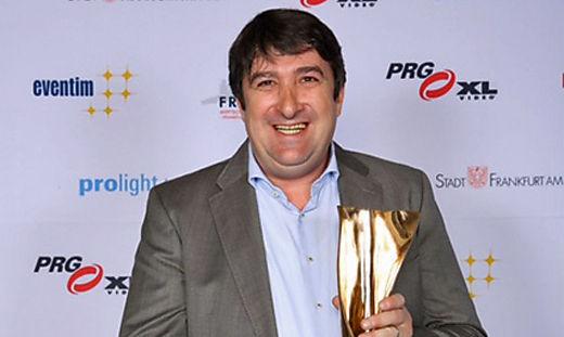 Veranstalter Walter Egle (LSK) nahm den Preis in Frankfurt entgegen.