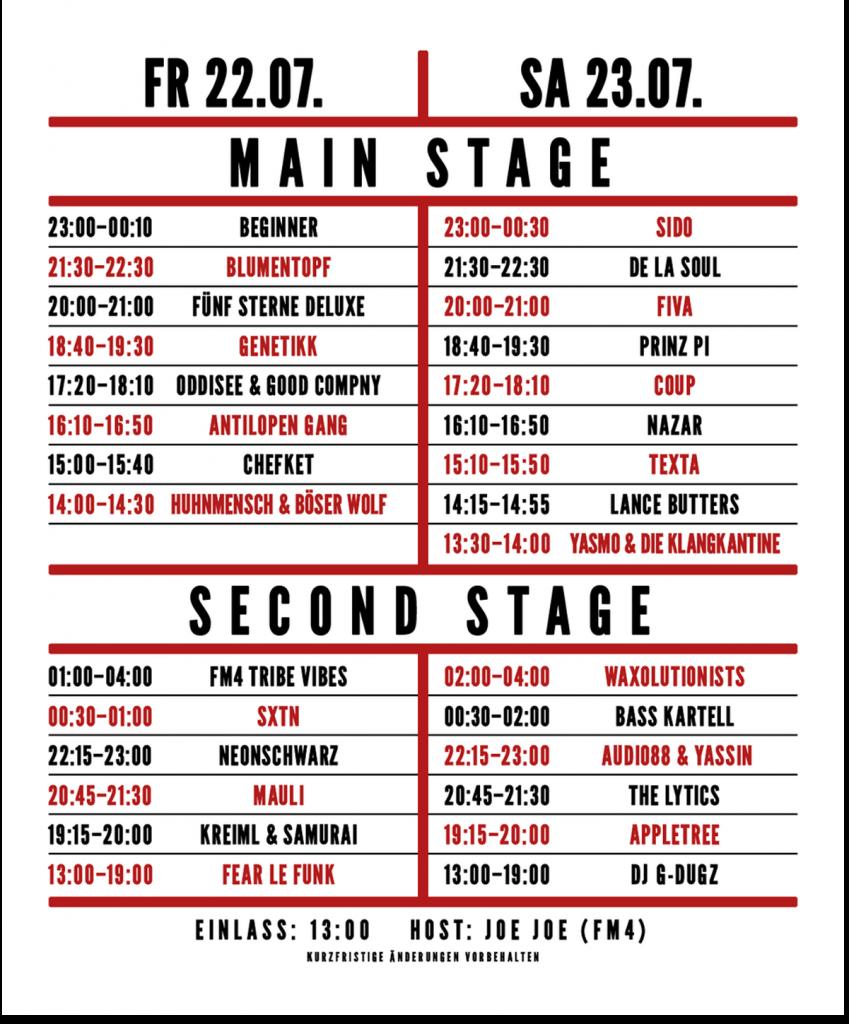 HHOA-timetable