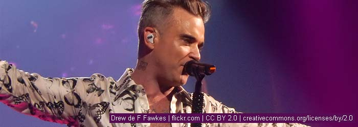Robbie Williams | Drew de F Fawkes | flickr.com | CC BY 2.0 | creativecommons.org/licenses/by/2.0