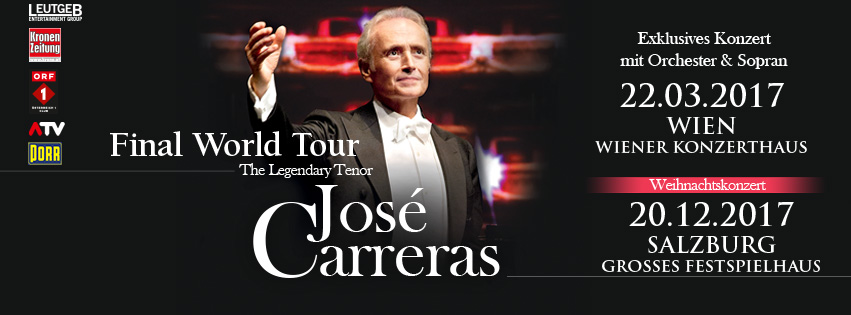 Jose Carreras Final World Tour 2017 Wien Salzburg