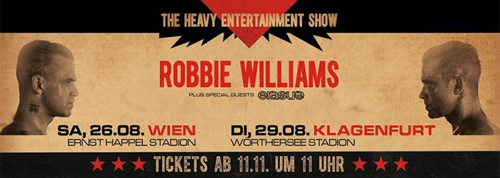 Robbie Williams live: 2017 in Wien & Klagenfurt