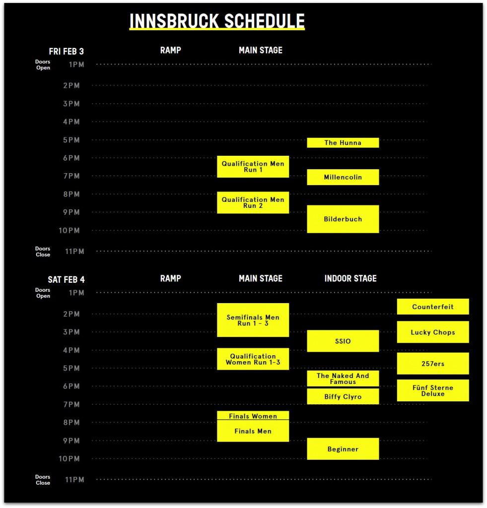 Air + Style Schedule Innsbruck