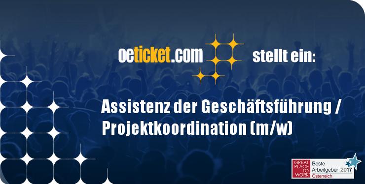 oeticket stellt ein: Assistenz der Geschäftsführung / Projektkoordination (m/w) width=