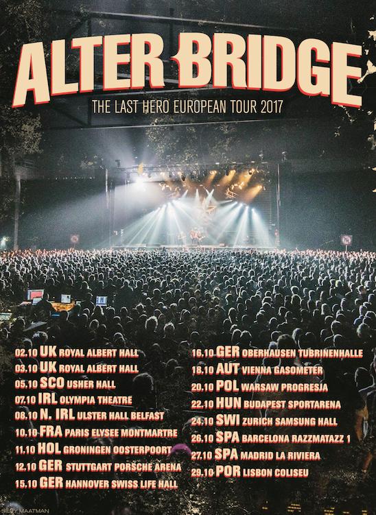 alter bridge europa tour