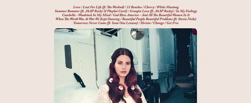 Lana Del Ray Blog Lust for Life