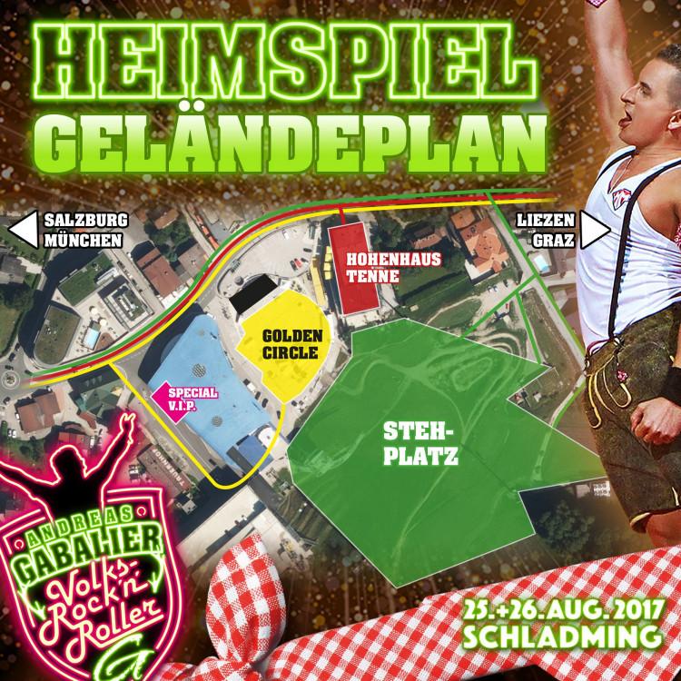 Geländeplan Andreas Gabalier Heimspiel 2017 Schladming