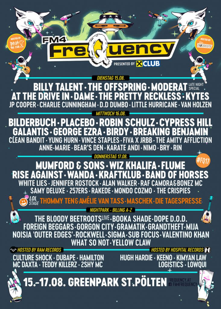 Line Up Frequency 2017 Festival