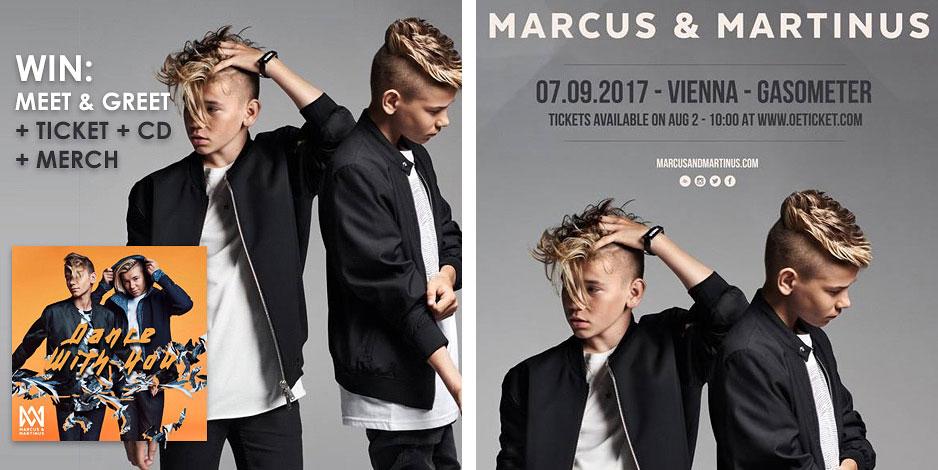 Meet & Greet mit Marcus & Martinus wien tour september gewinnspiel