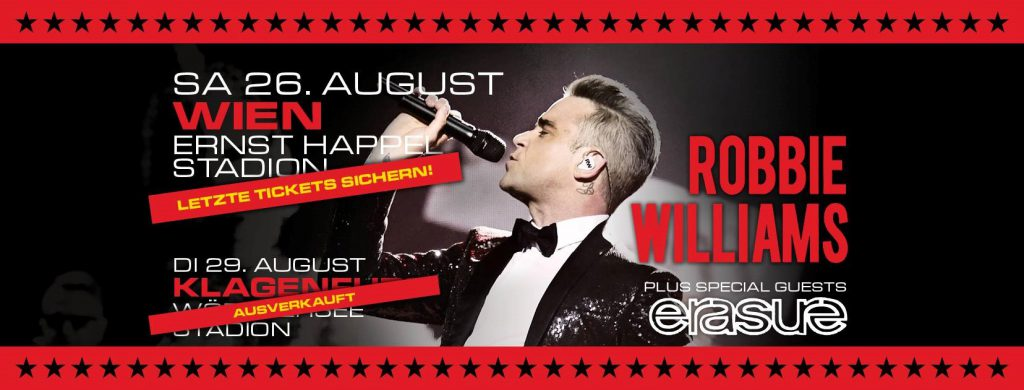 Robbie Williams Tickets Wien Tour 2017 Stadion