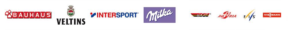 Logoleiste Vierschanzentournee Sponsoren