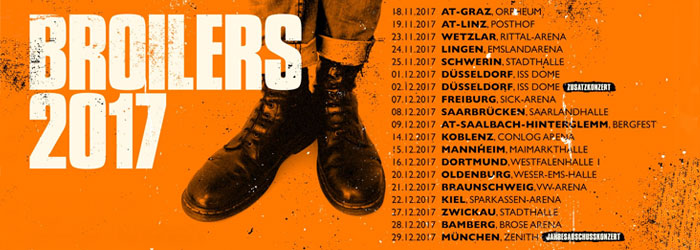 Broilers Winter Tour Interview Tour Ticket Tickets (sic!) Graz Linz 2017