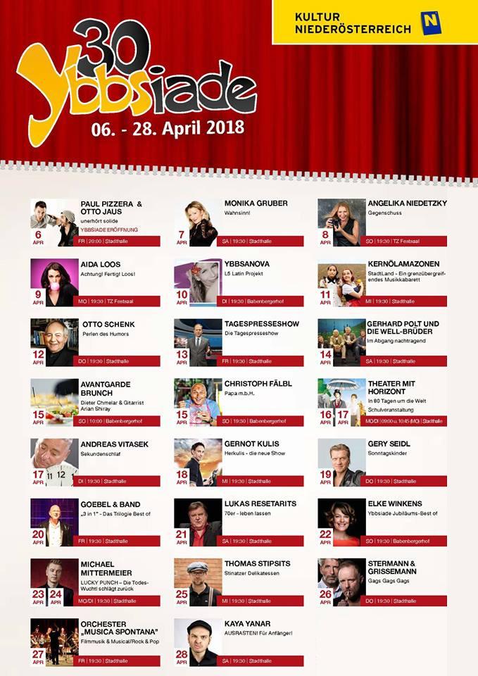 30. Ybbsiade 2018 Programm
