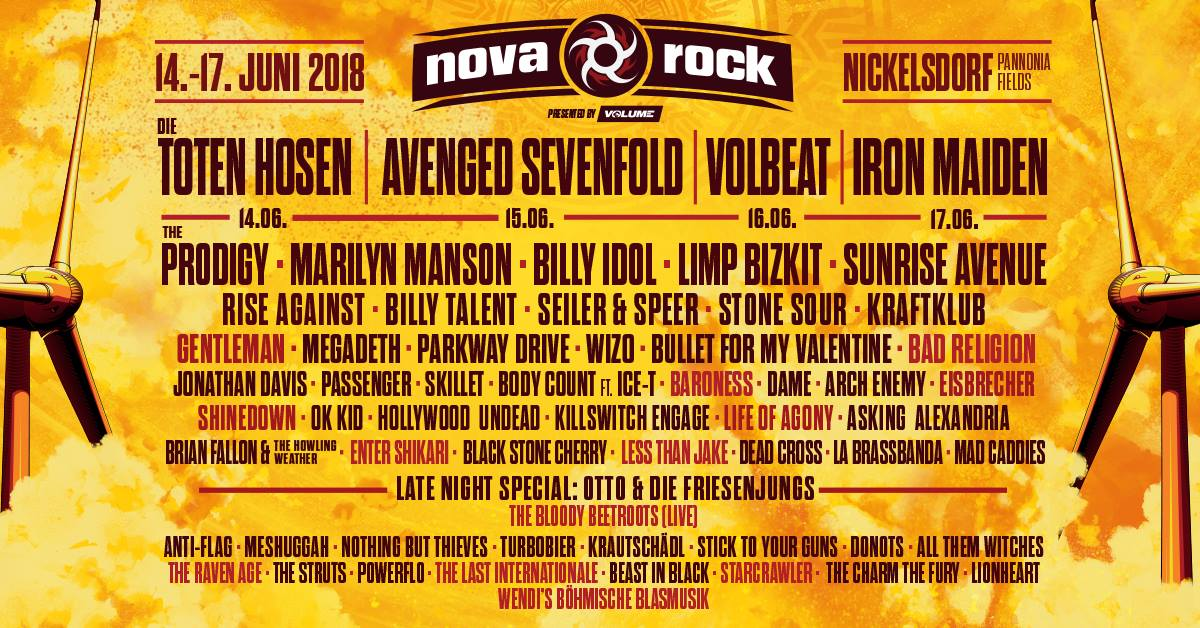 Billy Talent Nova Rock 2018 Nickelsdorf