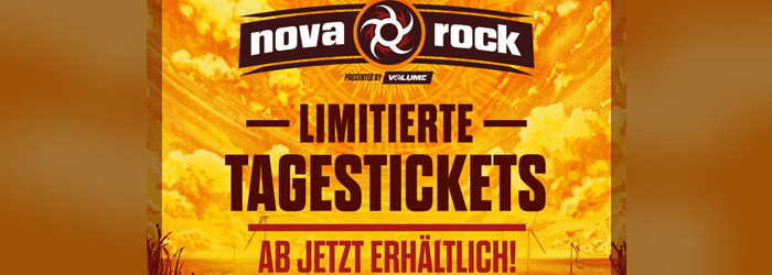 Nova Rock Tages-Line-up 2018