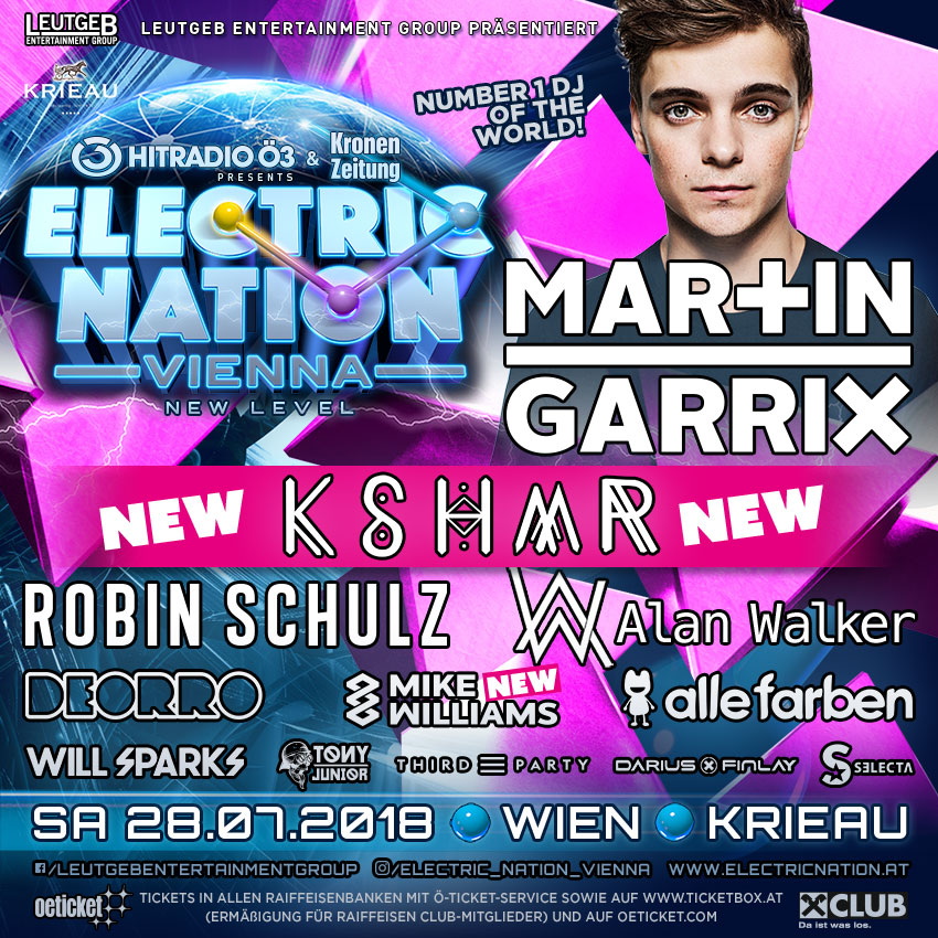 Ö3 Electric Nation Vienna - Tickets