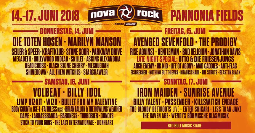 Nova Rock 2018 Viele Kategorien Bereits Sold Out Oeticket Blog