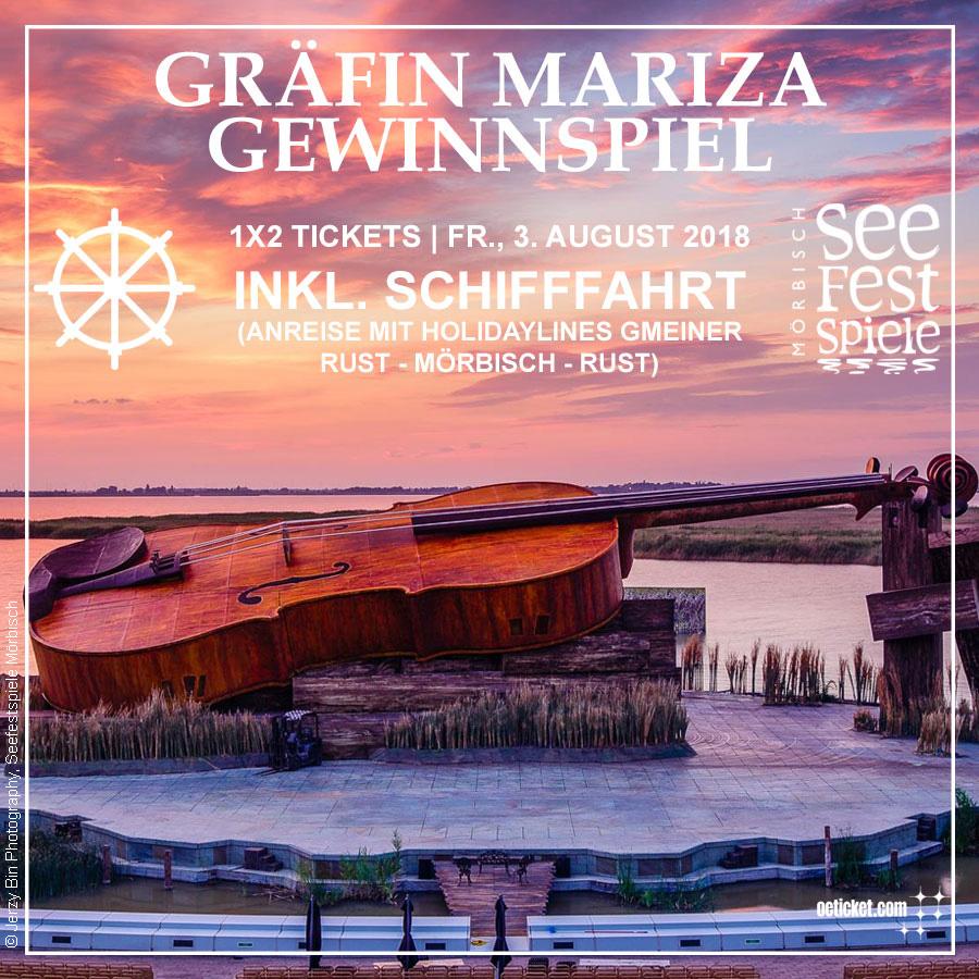 Tickets Für Gräfin Mariza Bei Den Seefestspielen Mörbisch Zu